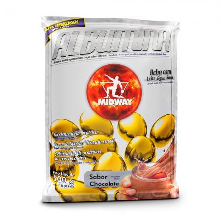 Albumina em Pó - Chocolate - Midway - 500g